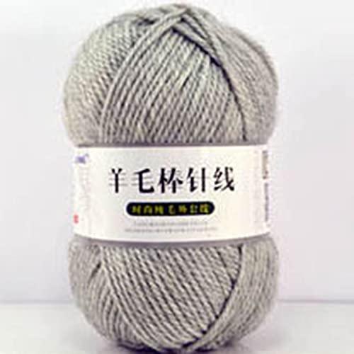 Zoomlie 4 rollos de 100 g/rollo de hilo grueso para tejer 100% lana suave surtida doble tejido a...
