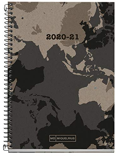 Miquel Rius Agenda Escolar 100% Reciclada Activa de Espiral 117x174 mm Semana Vista 2020-2021 Ecoworld Miquelrius Craft Castellano