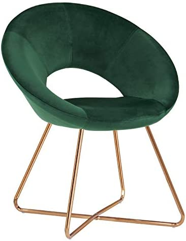 Best Duhome Modern Accent Velvet Chairs Dining Chairs Single Sofa Comfy Upholstered Arm Chair Living Room