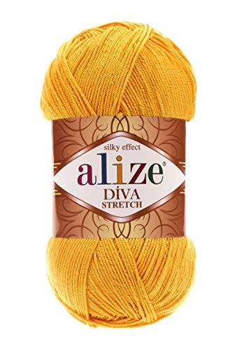 9 skns Bikini Yarn, Alize Diva Stretch Yarn, Elastic Yarn, 100 Grams, 400 Meters, Bikini Yarn, Lingerie Yarn, Summer Yarn, Crochet Skirt