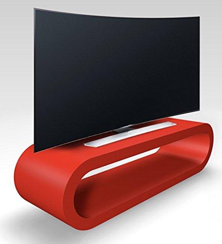 Zespoke Cerceau de Style Rétro Rouge Grand Meuble TV Mat/Armoire 110cm Rétro