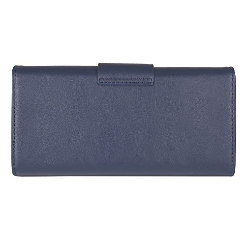 Lino Perros Black Faux Leather Wallet (BLUE)