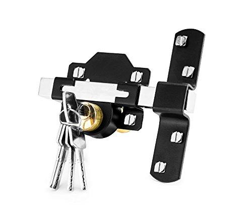 Concise Home - una serratura a doppio tiro cinque chiavi, adatte per cancello da giardino, 50 mm
