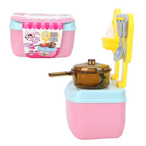 Leftwei Diseño de Borde Redondo Cocina para niños Pretend, Juguetes de Cocina para niños, para Vacaciones Regalos de cumpleaños Fiesta de cumpleaños en casa Niños