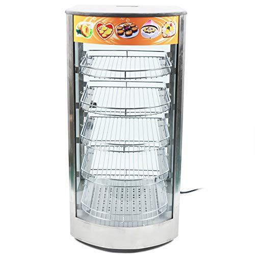 Vetrina calda da banco a 5 piani 30-85° C 800 W