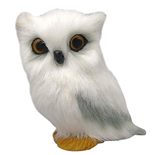 Cutogain Realista bebé búho simulación búho muñeca juguete fotografía accesorios hogar manualidades