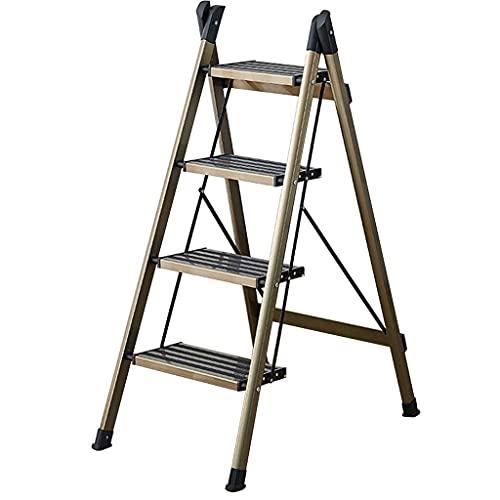 FCXBQ 4-stegs stege pall hushåll hopfällbar stege fiskben multifunktionell stege pedal stege, kan bära 150 kg