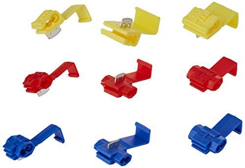 K24 206086 Set: 100 Abzweigverbinder 50 x blau-40 x rot-10 x gelb/Schnellverbinder/Stromdieb