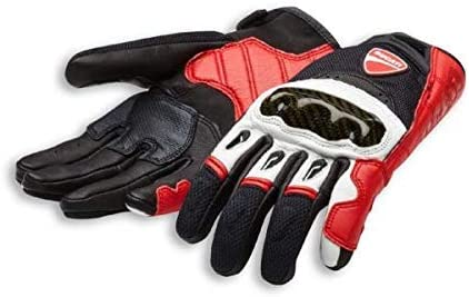 Ducati Handschuhe Company C1 Aus Leder Und Stoff Rot Weiß Schwarz Größe M Auto