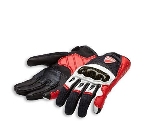 Ducati Handschuhe Company C1 aus Leder und Stoff rot/weiß/schwarz Größe M