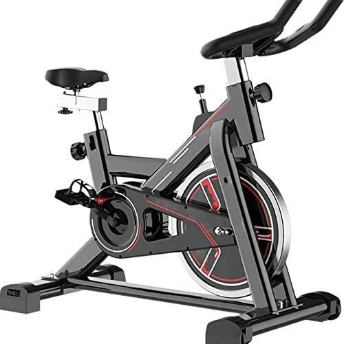 YFFSS Spin Bike, Indoor Cycling Exercise Bike Belt Drive Stationary Bicycle With LCD Monitor and Comfortable Seat Cushion For Home Cardio Workout (Multicolor Optional) (Color : Red)
