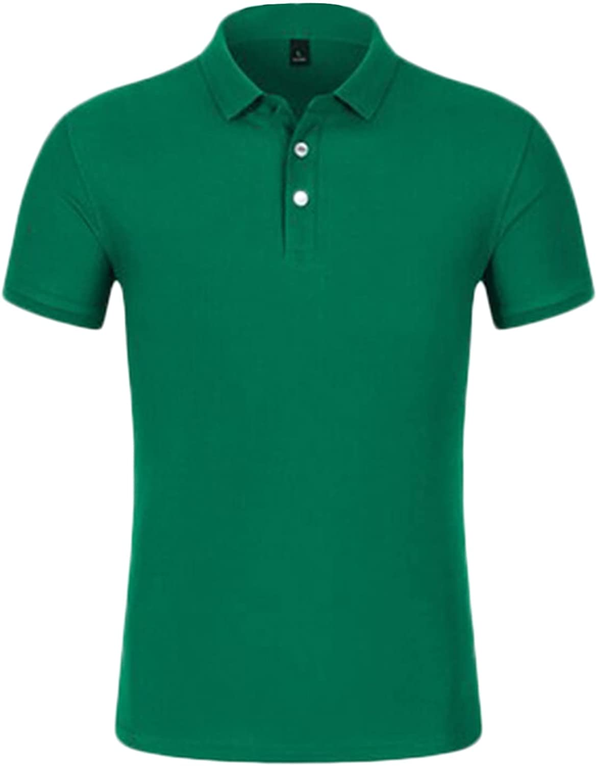 Men's security Short Sleeve Polo Shirt Max 50% OFF Down Shirts Henley Buttons Classic