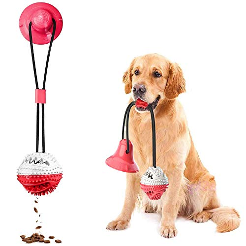 Product Image 1: Suction Cup Dog Chew Toys for Aggressive Chewers. Interactive Rope Tug Toy with Food Dispensing Ball.