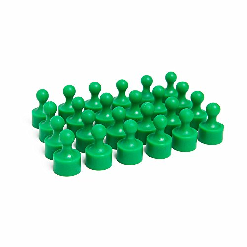 24 Bright Green Magnetic Pins, Pawn Style - Perfect for Fun Fridge Magnets, Whiteboards, Cabinets, Photo Magnets for Refrigerator, and More