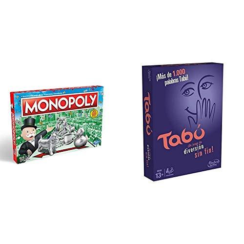 Oferta de Monopoly C1009118 - Edición Cataluña, Calles de Barcelona + Hasbro Gaming- TABÚ Gaming Clasico Juego de Mesa, Multicolor, 26.7 x 20.1 x 5.1 (Hasbro Spain A4626105)