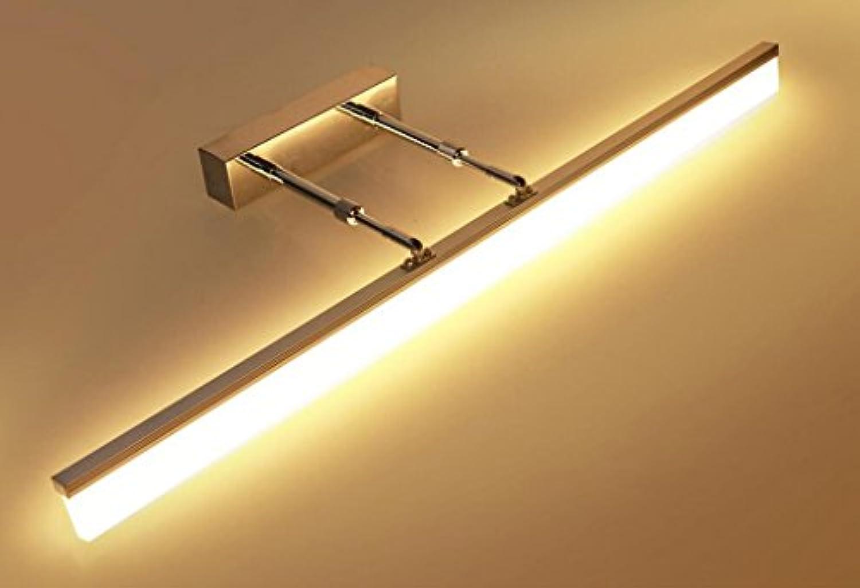 Popa Bad-Beleuchtung LED Licht Lampe Spiegel Vorne Lampe Skalierbare Badezimmer Badezimmer Moderne Einfache Spiegel Schrank Licht Spiegel Licht Spiegelfrontlicht (Farbe   60 cm -3 Farbe dimming)
