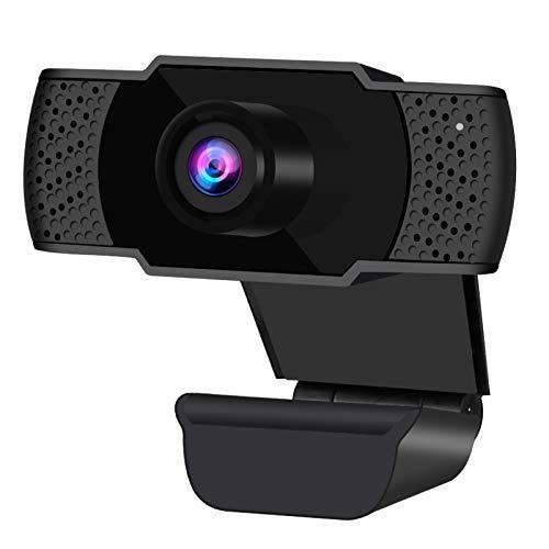 Webcam mit Mikrofon, HD1080P Web-Cam Plug & Play Computer-Webkamera USB 2.0 PC-Kamera für Videoanrufe, Studieren, Konferenzen, Spiele, ideal für Zoom, Skype, FaceTime und andere Programme