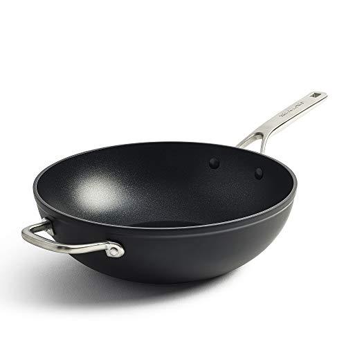 KitchenAid Pfanne Induktion, Antihaft Bratpfanne mit Edelstahlgriff und Stiel, Hochfestes Aluminium, Backofen- und Spülmaschinengeeignet - 30 cm