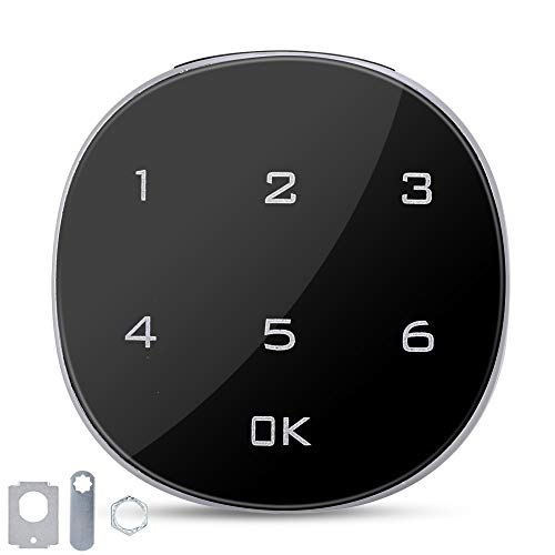 Elektronisches Zahlenschloss, Touchscreen-Zahlenschloss, geeignet für Schränke, Schubladen, Schuhschränke, Büroschränke, Briefkästen, Metallschränke, Schulschließfächer