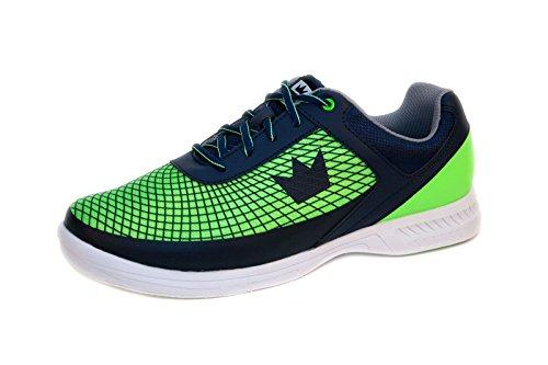 Brunswick Bowlingschuhe Frenzy Navy Green, Größe:43;Farbe:Blau/Grün