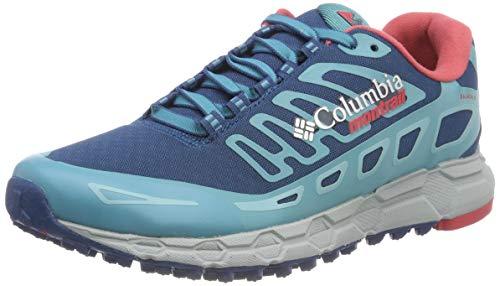 COLUMBIA Damen Trailrunning-Schuhe, BAJADA III WINTER, Blau (Phoenix Blue, Sunset Red), 37