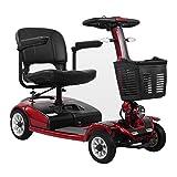 MILECN Scooter Eléctrico De 4 Ruedas para Discapacitados, Motor De 20AH 200W, Scooter para Ancianos, Plegable, Resistencia 20Km