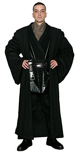 Jedi-Robe Star Wars Anakin Skywalker Sith - Körper Tunika mit schwarz REPLIK Star Wars Kostüm - Schwarz, Herren L