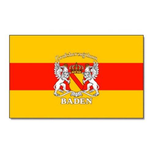 Flagge Großherzogtum Baden 90 * 150 cm mit Schrift Fahne