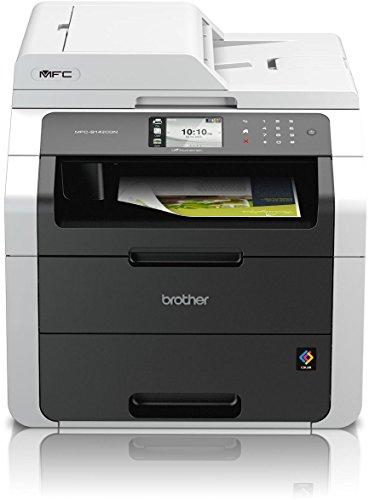 Brother MFC-9142CDN Kompaktes 4-in-1 Farb-Multifunktionsgerät (Drucken, scannen, kopieren, faxen, A4, 18 Seiten/Min., 2.400x600 dpi, LAN, Duplexdruck, ADF, Print AirBag für 150.000 Seiten)