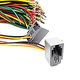 100pcs/lot 4 Pins RJ11 PCB Mounting Type RJ11 4P4C Modular Telephone Adaptors Connectors Jack with Cable 616E-4P4C 150mm Length