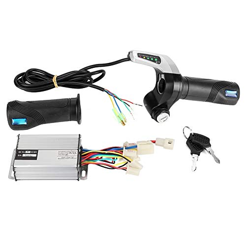 Outbit Scooter Motor Controller - 36V 1000W elektrische fiets Brushed Speed ​​ Box-Controller Gasgreep Kit voor 7/8 inch stuur