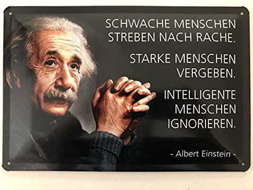 Placa metálica de 20 x 30 cm, texto en alemán