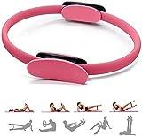 Shengluu Fitness Hula Hoop Anillo de Pilates de Doble Mango Anillo mágico Yoga Anillo de Ejercicio físico Ejercicio en el hogar Quema de Grasa