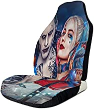 Heavenly Battle Harley Quinn Clown Girl and The Joker Car Seat Covers Accessories Set Super Soft Vehicle Seat Decoration Protector Cover Bag 2 Pieces Set