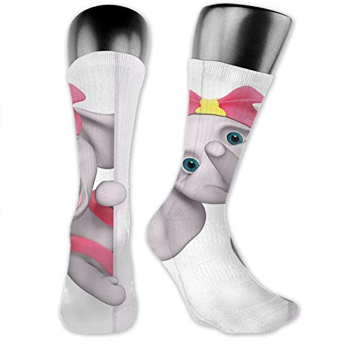 Moruolin Cool Colorful Fancy Novelty Casual Cotton Socks,Funny Cartoon Character Animal Saying Hello Peaking 3d Print
