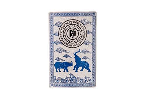 DMtse Feng Shui Blue Rhino Elefante Cartão Talismã Antifurto