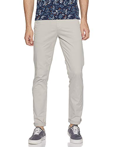 Amazon Brand - House & Shields Men's Relaxed Fit Casual Trousers (AV-H&S-RRA1_Cement_32W x 31L)