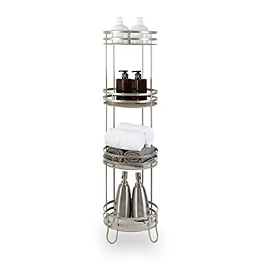 BINO Lafayette' 4-Tier Round Spa Tower, Nickel
