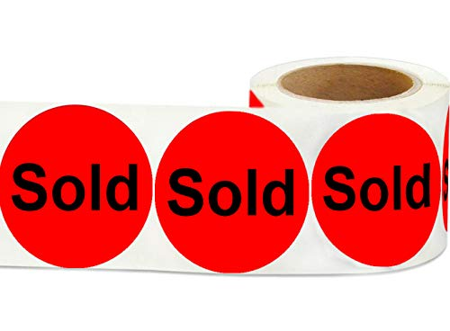 """Wootile 500 1"""" Stickers/Labels Fluorescent Red Stickers Labels Retail Stickers"""