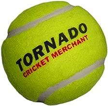 Tornado Heavy Cricket Tennis Ball - Pack of 6 (Yellow)