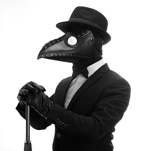 CreepyParty Plague Doctor Mask Gothic Cosplay Retro Steampunk Props Long Nose Bird Beak for Halloween Costume