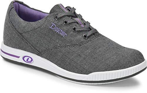 Comfort Canvas Kerrie - Grau - Bowling-Schuhe Damen, für Rechts- und Linkshänder in den Schuhgrößen 36-41 und Mein-Bowlingshop.de Schuhtasche Größe 40