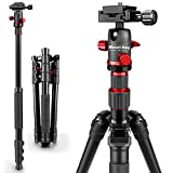"MOUNTDOG Camera Tripod, 56"" Lightweight Tripod With Aluminum Alloy Tripod Suitable For DSRL"