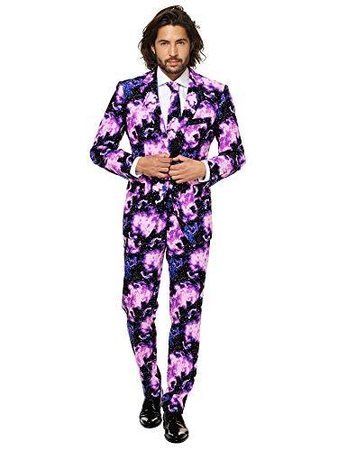 OppoSuits Stilvoll bedruckter Herrenanzug - Go-to-Outfit für Weihnachten und Sylverster - EU54