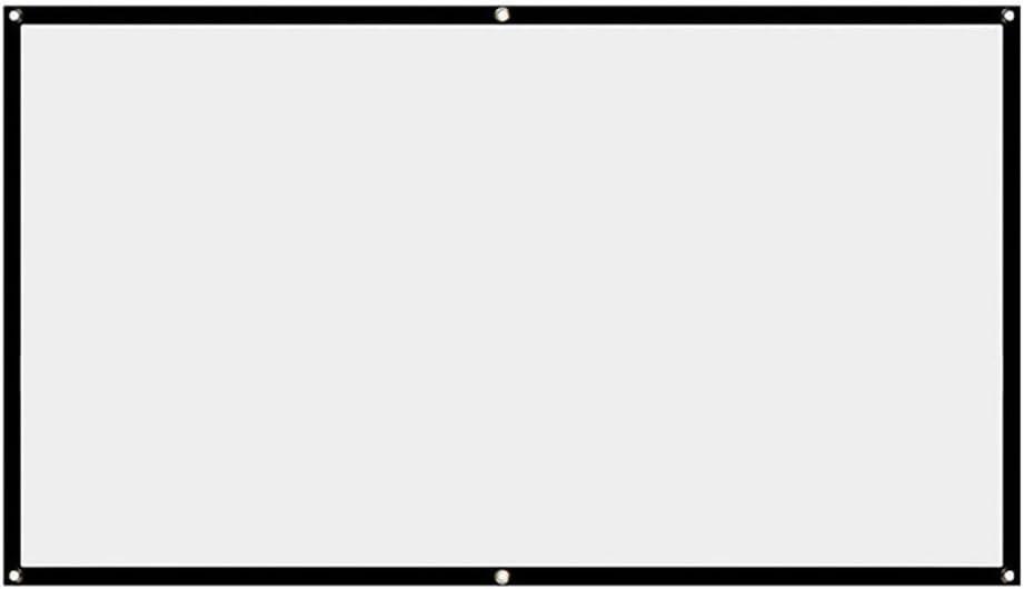 Ranjaner Projection Screen, Portable 16:9 No Crease White Projection Screen, HD Electric Projection Screen School, Theatre, Cinema, Home Projector