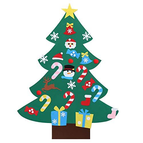 Kesote Fai-Da-Te Albero di Natale da Parete Albero di Natale di Feltro con 26 Accessori Albero di Natale da Appendere Decorazioni di Parete e Porta