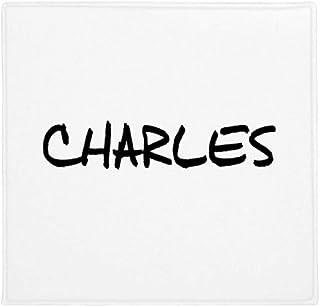 DIYthinker Planta Pet Square Alfombra de su casa Puerta de la Cocina 80cm Escritura inglés Nombre Charles Antideslizante 8...
