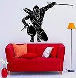 HNXDPArt Home Decor Ninja Tatuajes de pared Vinilo Adhesivo Interior Dormitorio Extraíble Decoración del hogar Dormitorio Sala de estar Design84 42X49CM