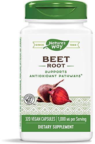 Nature's Way Beet Root, 1000 mg per serving, TRU-ID Certified, 320 Capsules