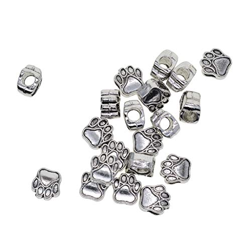 Bonarty 20X Alloy Jewelry Making Beads Spacer Beads Antique Silver Spacer Kids Craft